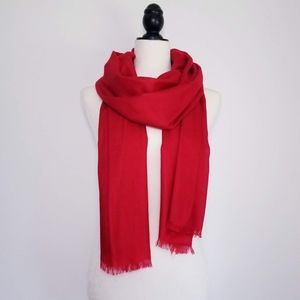 NORDSTROM Cashmere & Silk Wrap - RED